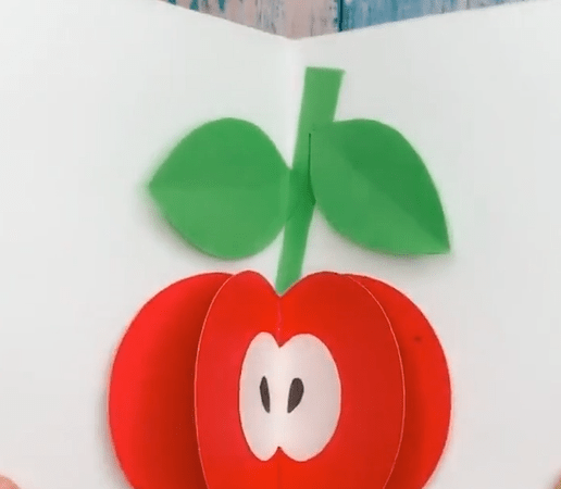 How to make an origami apple step by step
