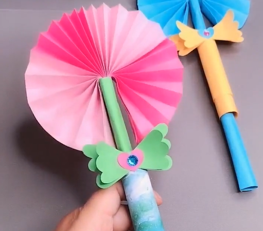 How to make a paper magic wand origami step by step