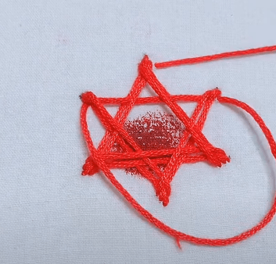 how to stitch a star in your cloth? stitch tutorial