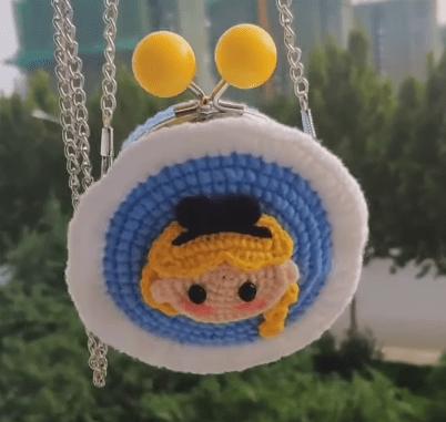 Crochet Amigurumi Doll Purse crochet shoulder bag