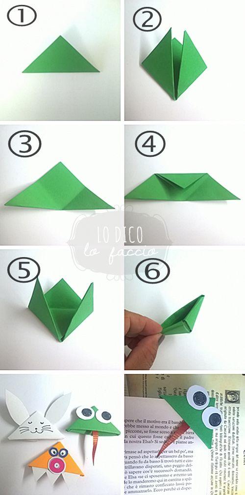 DIY Origami tutorial animal bookmark