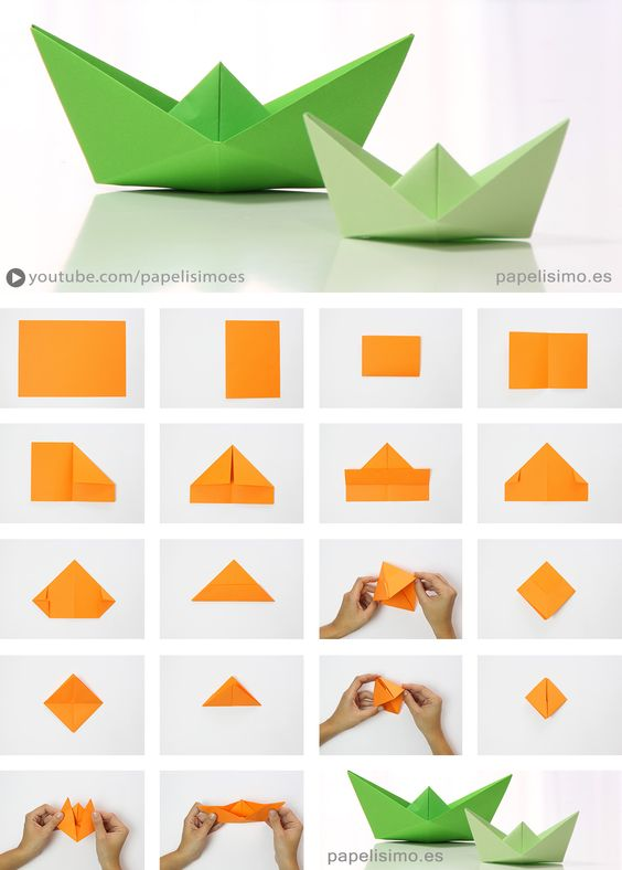 DIY Origami tutorial boat