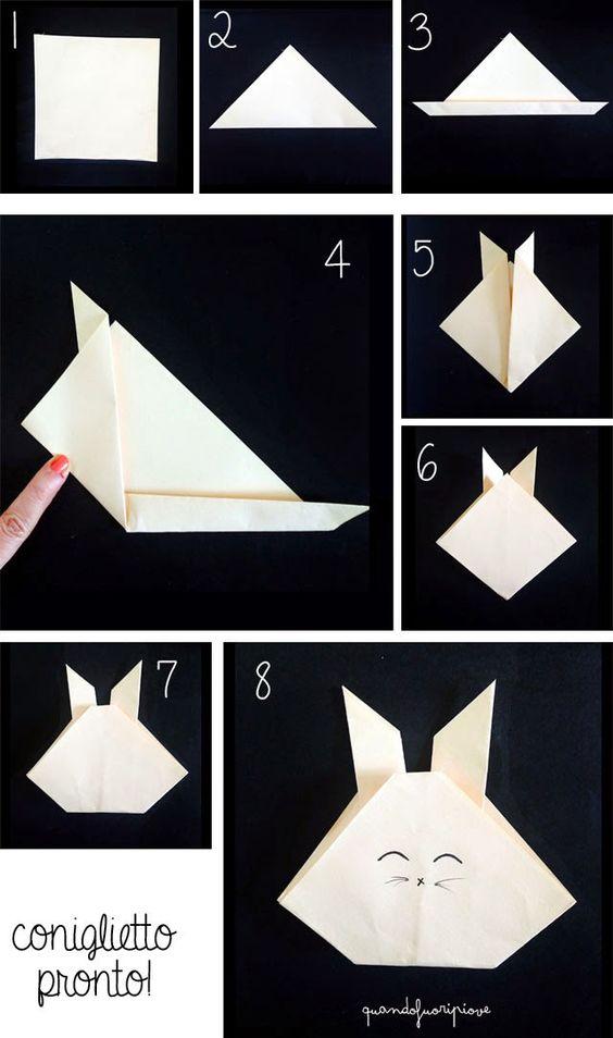 DIY Origami tutorial bunny
