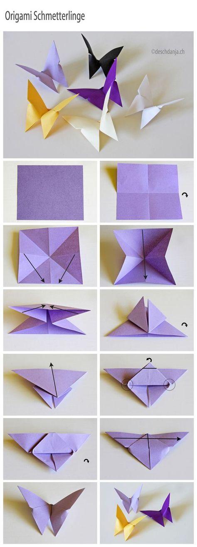 DIY Origami tutorial butterfly