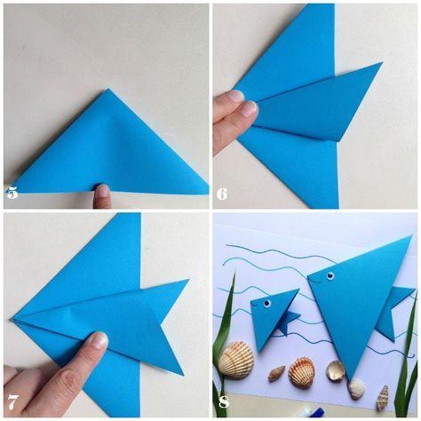 DIY Origami tutorial fish