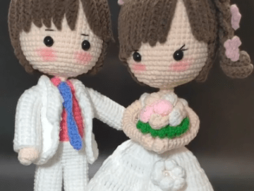 crochet Bride and groom