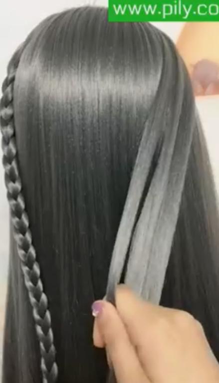 hairstyles for thin hair long videos braids