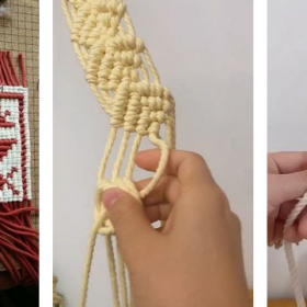 how to make a macrame wall hanging for beginners