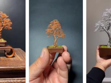wire bonsai tree how to make