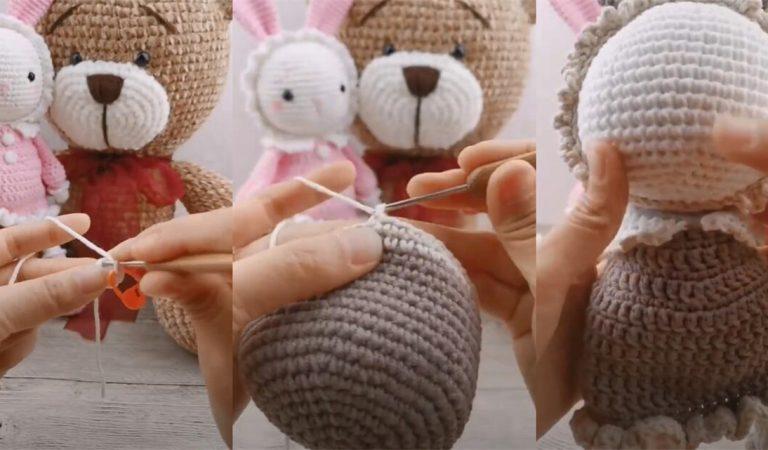 How to Crochet Basic Doll Amigurumi Rabbit Tutorial