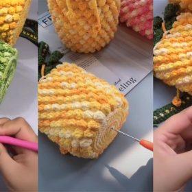 crochet pineapple bag