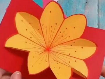how to make origami greeting card step by step