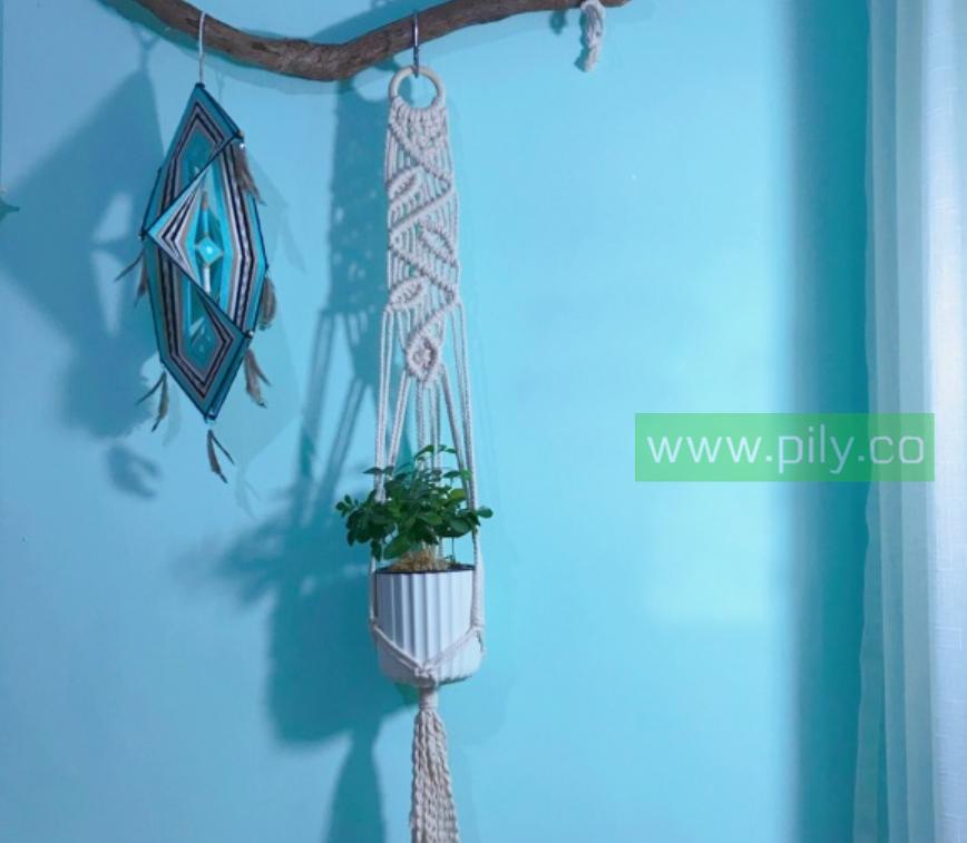 5 minute macrame plant hanger