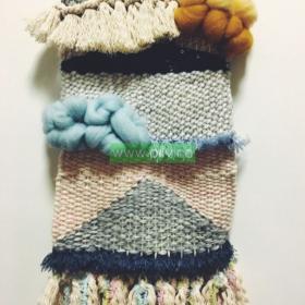 easy macrame wall hanging with yarn