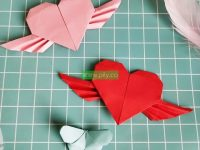 Heart with wings Step by Step