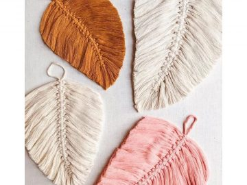 macrame feather wall hanging tutorial