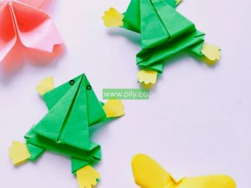 origami frog step by step pictures