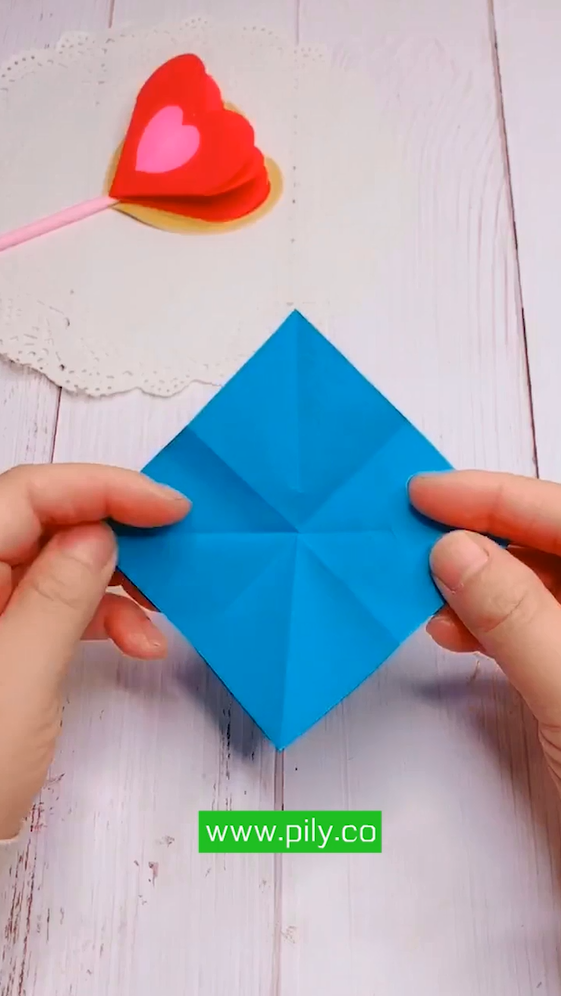 origami heart step by step