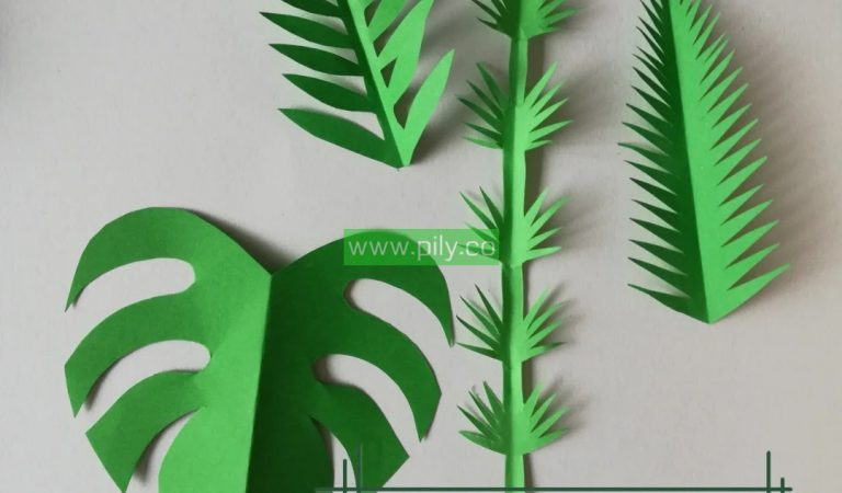 How do you make an origami leaf?