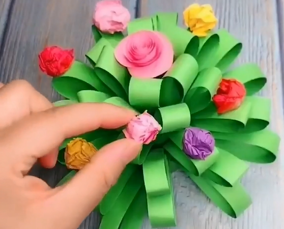 how to make a simple paper flower origami step by step